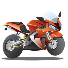 Red Supersport Cartoon