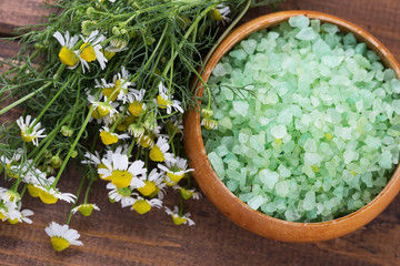 Sea salt with chamomile