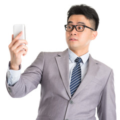 Get shocked while reading on smart phone.