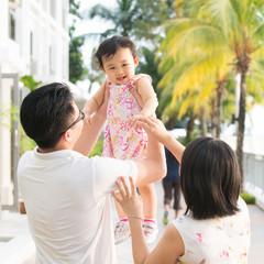 Asian family vacation