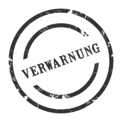 sk11 - StempelGrafik Rund - Verwarnung - g1431