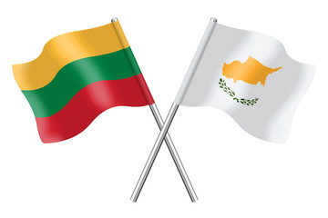 Flags: Lithuania and Cyprus