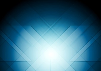 Abstract tech blue vector background