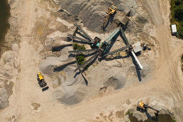 aerial viev of processing plant stones