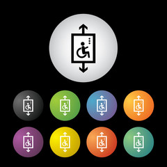 Lift for disabled button set