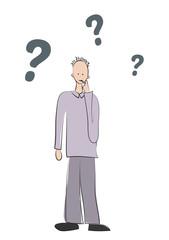 Micha mit Fragezeichen