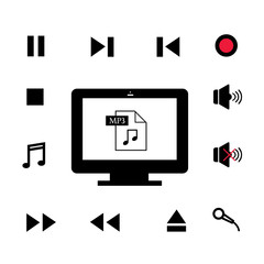 music and  technology symbol