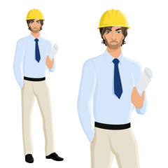 Man engineer portrait