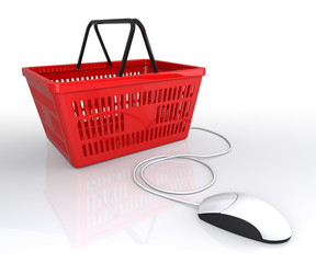 Shopping Basket Connected to Mouse
