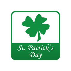 Etiqueta tipo app verde St. Patrick's Day