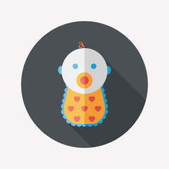 baby flat icon with long shadow,eps 10