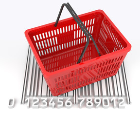 Shopping Basket with Bar Code