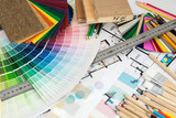 Fototapety Selection of colors and materials for home renovation