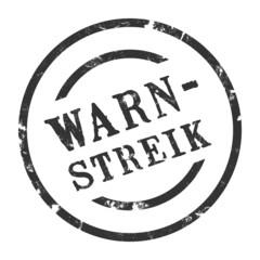 sk24 - StempelGrafik Rund - Warnstreik - g1444