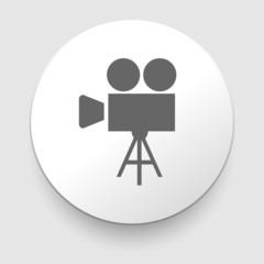 movie symbol on gray background