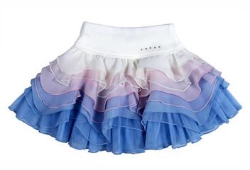 silk skirt isolated on white