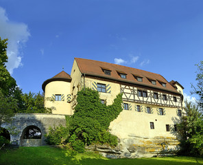 Rabenstein, old caste in the Fraconian Switzerland, Germany