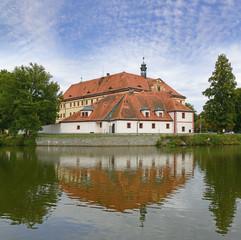 Baroque chateau Lnare. Southwest Bohemia, Czech Republic