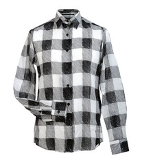 checkered shirt isolated on white