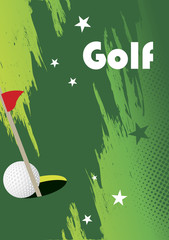 Golf  poster with stars