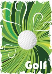 Green golf poster