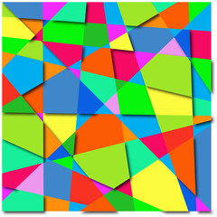 background abstract of colorful shapes