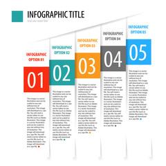 Flat vertical infographics options banner set.
