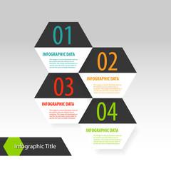 Hexagon modern infographics options banner.