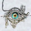 Leinwandbild Motiv Mechanical eye
