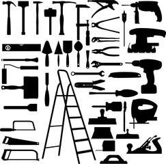 construction tools collection vector set