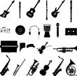 Music icons vector set