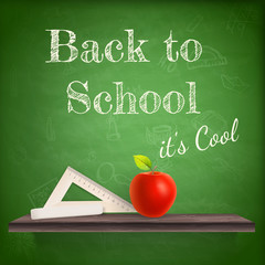 Back to school background template. EPS 10