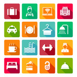 Fototapety Set of hotel icons
