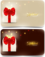 Merry X-mas and Happy New Year gift cards