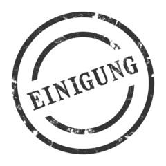 StempelGrafik Rund - Einigung - g1450