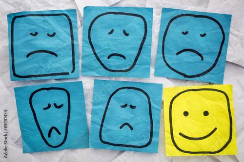 Zdjęcia na płótnie, fototapety, obrazy : unhappy and happy faces