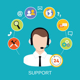 Customer Support Service poster