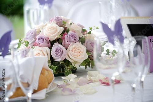 Leinwanddruck Bild wedding party