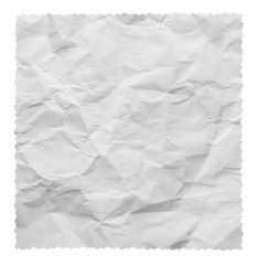 White creased paper