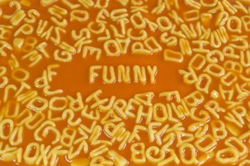 Alphabet pasta - Funny