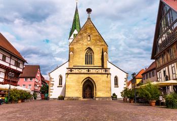 Marktplatz in Bad Saulgau mit St.Johannes Baptist Kirche