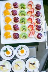 Small and cute wedding dessert on reception