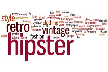 Hipster word cloud