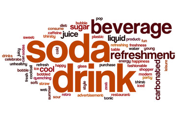 Soda drink word cloud