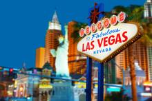 "Постер, картина, фотообои ""Welcome to Las Vegas neon sign"""