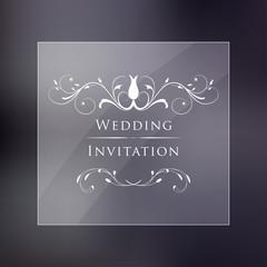 Wedding Vintage Invitation