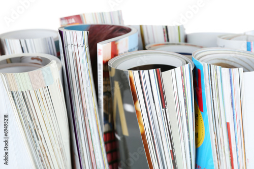 Many magazines close up © Africa Studio