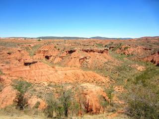 red clay terrain