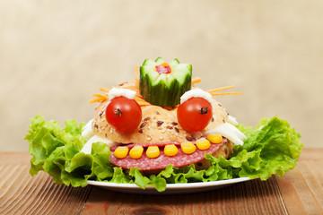Creative food - the frog king sandwich