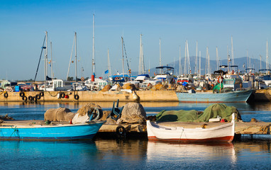 Boats in port of L'Ampolla